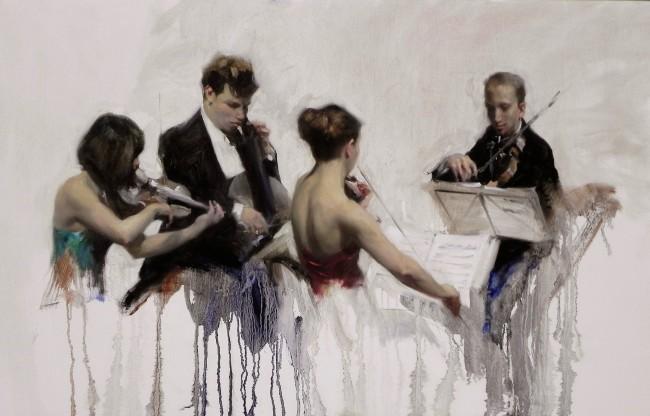 Quartet no. 1 60x97cm oil on canvas
