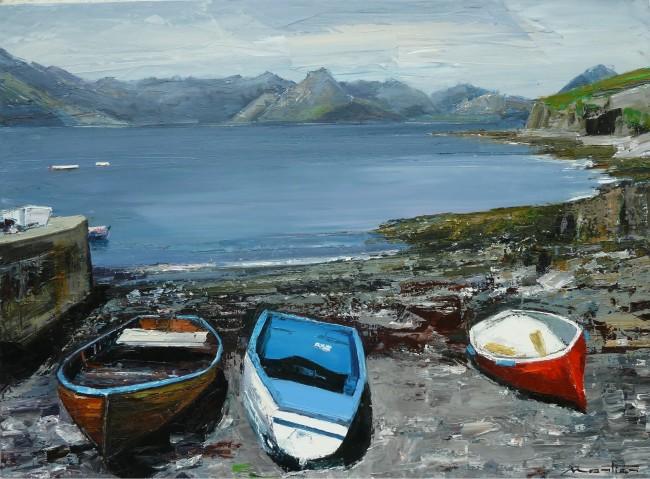 GM Barques sur l'Ile de Skye 73 X 54